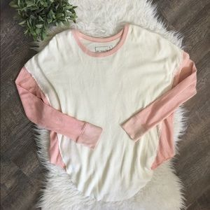 NWOT Free People oversized crew neck thermal